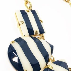 kate spade Jewelry - Kate Spade Navy White Striped Statement Necklace